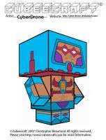 Cubeecraft - Man-E-Faces by CyberDrone