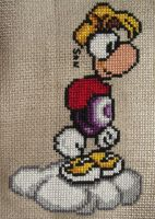 Rayman cross stitch by Santian69
