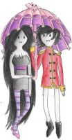 Marceline and Marshall Lee by KatieRacers