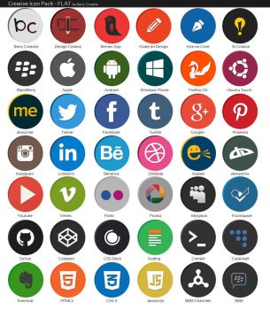 Creative Icon Pack - Flat Edition [Development] by quen-quen