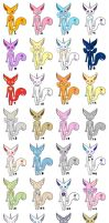 CUTE BEASTLY MLP : FIM ADOPTS by WolvesDestinyBlood