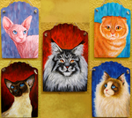 Cat Breed Portraits by Viergacht