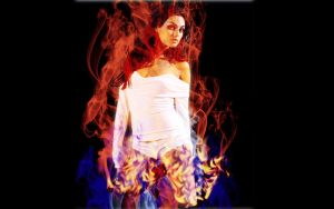 Mila Kunis On Fire by trebory6