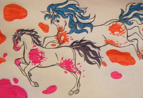 Paint Horses by danette54