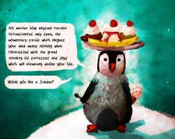 Ice Cream Penguin 2 by anarchisticmoosebear