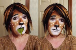 Faun Makeup Practice 1 by toberkitty