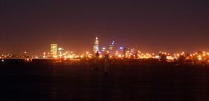 perth city at night by t3amo