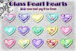 Glass Hearts -Pastel Pearl- by kittenbella