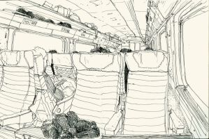 sketches in train 01 by Bonom