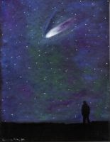 Night Sky 2011 Pastel by stargateatl