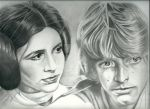 Leia and Luke by ellepi11