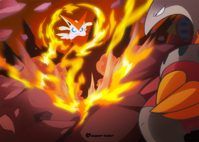 Victini VS Heatmor by super-tuler