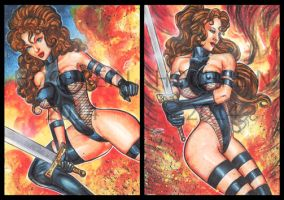 AVENGELYNE PERSONAL SKETCH CARDS by AHochrein2010