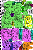 41 of my characters (color coded) by ProfessorDeLune