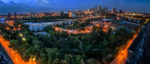 Minneapolis Blue Hour by 5isalive