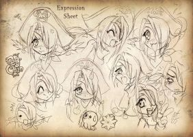 PegChan expressions sheet by Niki-UK
