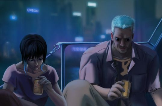 Ghost inthe shell scene by Kennienoname