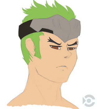 Young Genji sketch colored by ryniainesory