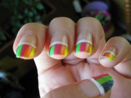 nailart - rainbow by JoshuaLove