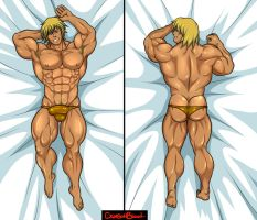 Commission : He-Man dakimakura by CrimsonBlood-Z