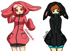 Collab Bunny Hoodies my part by miracm4