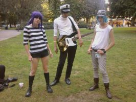 Murdoc, 2-D, and Noodle at Kumoricon by Dominik528