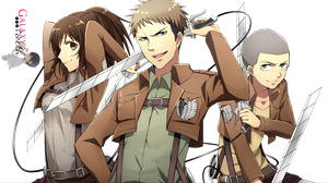 Render Trio Shingeki no Kyojin RENDER HD by a-Galaxysweth