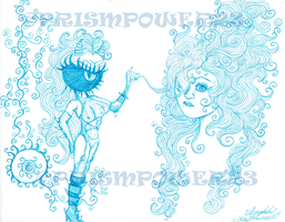 Inky Hair BLUE by prismpower23