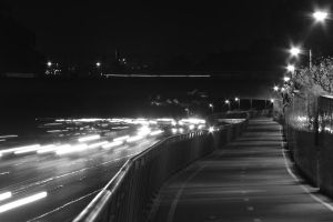 Highway Black and White #2 by Onigiripencil