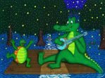 Gator Turtle Swamp Party by WalterRingtail