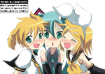 Kagamine Twins and Miku-Render #9 by CoralineGFX