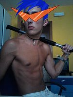 My Kamina Cosplay with Gimp by CrescTheBest