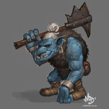 Troll - digital painting video by MattDixon