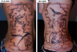 Pink Floyd The Wall Tattoo by TinaTron3000