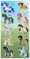 Pony Adoptables // OFFER TO ADOPT//CLOSED by Belliko-art