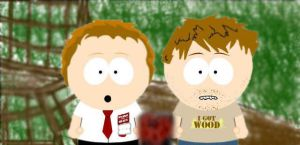 Shaun of the Dead -South Park- by AtTimesLikeThis