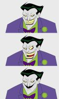 DCAU Joker expressions by bmacattack