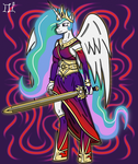 Anthro Celestia by Lucandreus