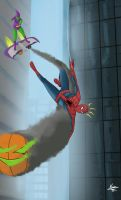 Spiderman Vs Green Goblin by Karim-E
