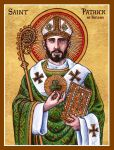 St. Patrick of Ireland icon by Theophilia