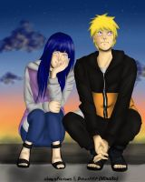 NaruHina: sunset by Becci888