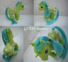 My litte Pony Custom G3 Button by BerryMouse