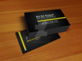 Construction Business card by SneekDigital