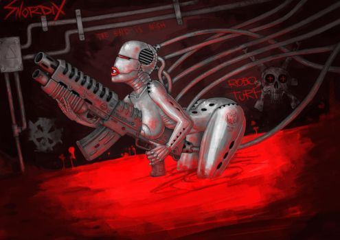 Tubed Up Robo Chick by Snoardur
