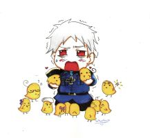 Chibi Prussia by TiaSunflower