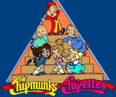 The Chipmunks and Chipettes by KieramelKisses