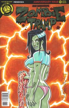 Zombie Tramp Sketch Cover For C2E2 by BillMcKay
