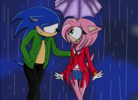 In the Rain by 4everbacon
