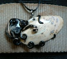 Oil Spill Octopus Necklace by BlackMagdalena