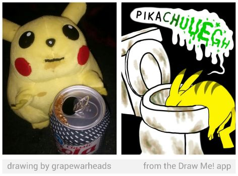 Alcoholic Pikachu by LukeTheNuke